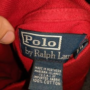 Polo Red 1/4 Zip Sweater Size XLT Great Condition